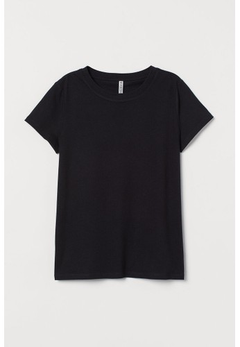 H&M black Jersey T-shirt BC97DAA4FE3C15GS_1