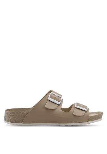 Bata 米褐色 經典休閒涼鞋 D277ESHA5438F7GS_1