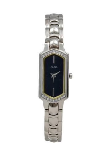 Alba silver ALBA Jam Tangan Wanita - Silver Black - Stainless Steel - AC3P73 97681AC540D9BFGS_1