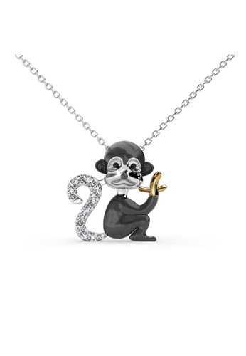 Her Jewellery silver Her Jewellery Monkey Pendant with Necklace Chain with 18K Gold Plated 2AE88AC8F2B5E3GS_1