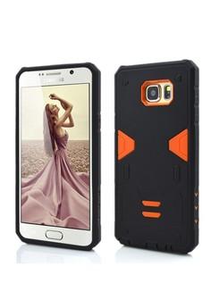 Armor Hybrid Anti Shock Heavy Duty Case for Samsung Galaxy Note 5- Black/Orange