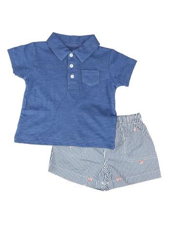 Milliot & Co. blue Anton Boys Top & Bottom Set 43A73KA0180F19GS_1