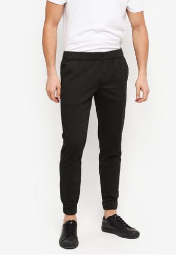 ZALORA black Slim Smart Fit Woven Joggers DFC0DAAA2D81DDGS_1