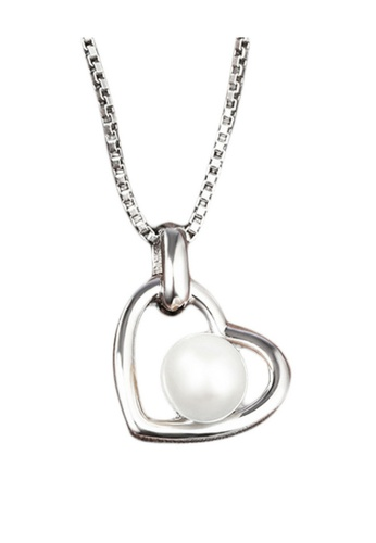 Vivere Rosse silver Loving Pearl Necklace VI014AC76BGTMY_1