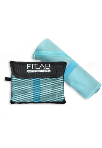 Fitlab blue Microfiber Bath Towel 8FCECHL192CBA7GS_1