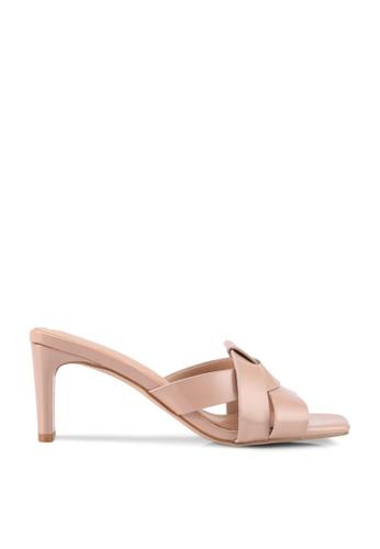 nose beige Patent Square Toe Heels E7450SH7F88D14GS_1