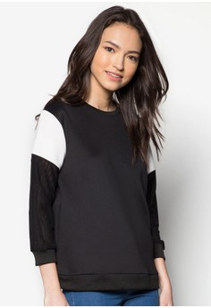 Mesh Sleeve Pull Over