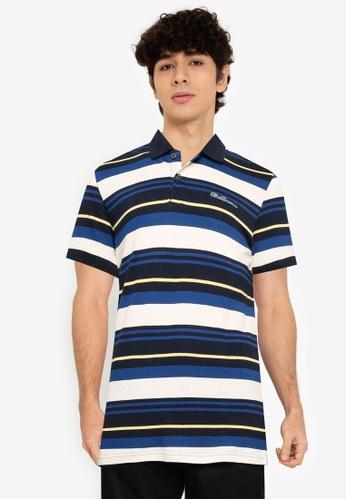 Ben Sherman navy Block Stripe Polo Shirt F4193AA2917065GS_1