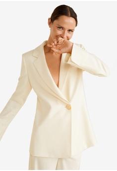 51de2127d511d Mango beige Recycled Wool Suit Blazer C647BAA5B27427GS 1