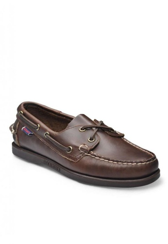 Sebago brown Docksides Loafers 13E01SH1A0C25EGS_1