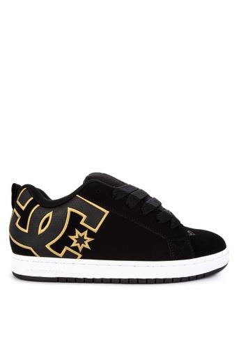 DC black Court Graffik Shoes 833DCSH5FABB92GS_1