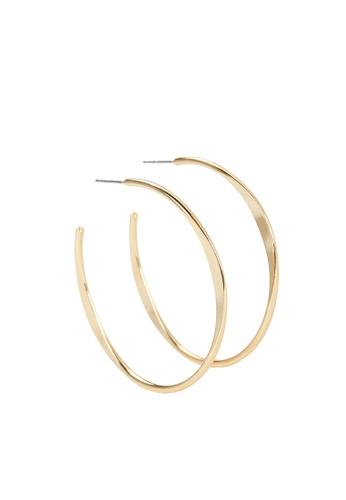 Parfois gold Basic Large Hoop Earrings E3CC7AC17E8ED4GS_1