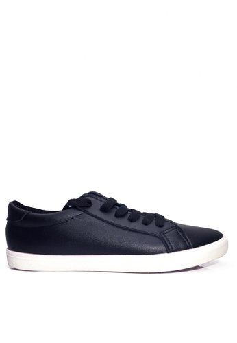 Twenty Eight Shoes black Basic Lace Up Soft Synthetic Leather Sneaker VCQ1066 B7C09SHC40AE45GS_1