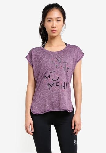 Odlo purple Helle Short Sleeve T-Shirt OD608AA0S13KMY_1