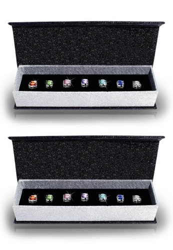 Her Jewellery multi Swarovski® Crystals - 7 Days Earrings Set (2 Sets) (18K White Gold Plated) Her Jewellery HE581AC55HUUMY_1