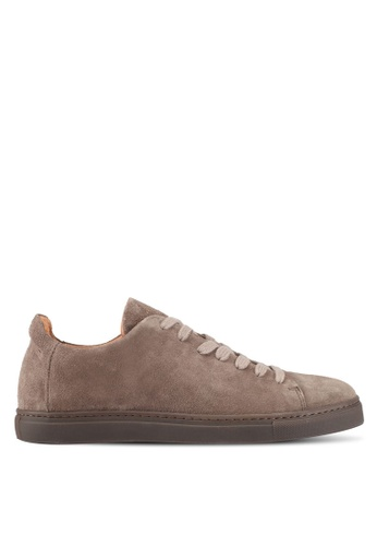 Selected Homme brown Shndavid Suede Sneaker 224B6SHFCC7147GS_1