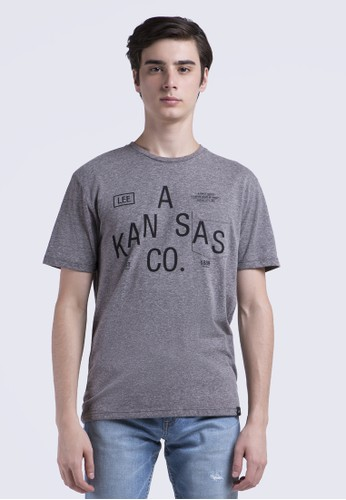Lee grey T-Shirt Short Sleeve 87D51AA3779A98GS_1