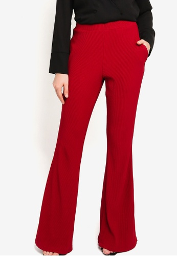 ZALIA BASICS red Boot Cut Pants 6ABF5AABDA4D0EGS_1