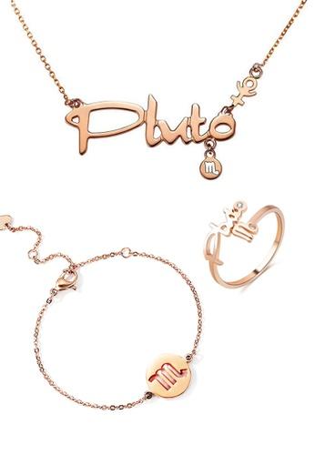 CELOVIS gold CELOVIS - Horoscope Scorpio God of Protection Necklace + Bracelet + Ring Set F6FD8ACCE9B7FBGS_1