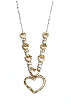 Clique Fashion Eternal Love Two Tone Italian Gold Necklace Valentine's Day Sale