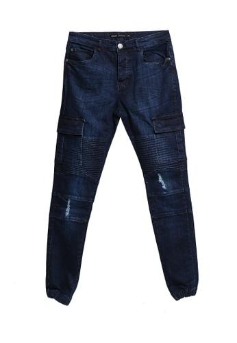 Brave Soul 藍色 Denim Biker Jeans 31BEAAAAD1BE3AGS_1