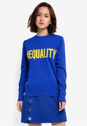 Mango blue Message Knitted Sweater MA193AA0RGU8MY_1