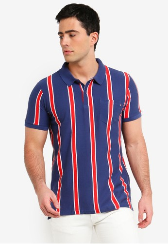 Cotton On red and navy Icon Polo Shirt 49ED3AA677A595GS_1