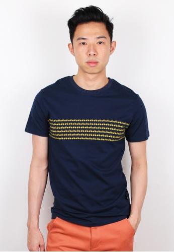 Moley navy Bicycle Print T-Shirt MO329AA0FI4NSG_1