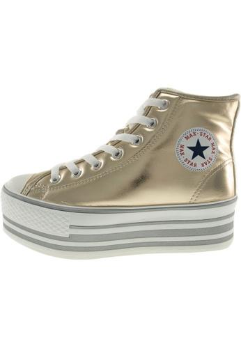 Maxstar 金色 新款韩国鞋C50-7H-TC時尚合成物質布混合女金色 US Women Size MA345SH78GUBTW_1