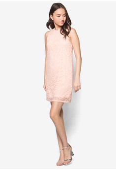 Love Lace Shift Dress With Rib
