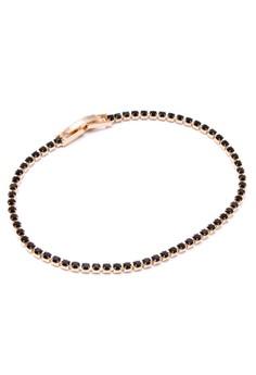 Anne Tennis 18k Plated Onyx Cubic Zircon Bracelet