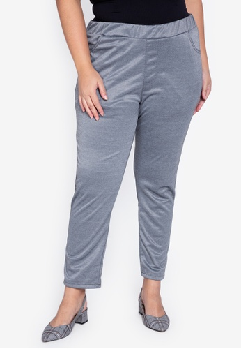 Maxine grey Plus Size Skinny Stretch Pants 0672BAA3364B15GS_1