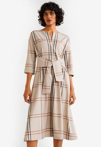 MANGO beige Knotted Dress F4D89AA662ACEEGS_1