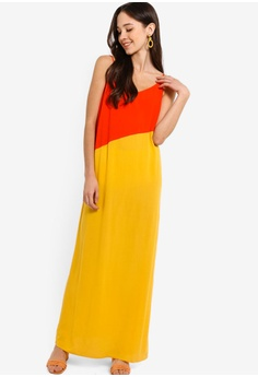 a1bb4e35e78 20% OFF Something Borrowed Colorblock Panel Cami Maxi Dress RM 105.00 NOW  RM 83.90 Sizes XS S M L XL