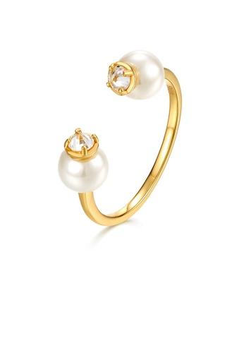 SUNSET 金色 Premium 9K Gold Pearl Ring 7F75DAC1BABC7DGS_1