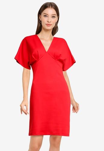 Jual Zalora Work V Neck Bodycon Dress Original Zalora Indonesia