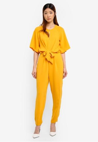 Miss Selfridge yellow Marigold Tie Jumpsuit BF3D7AA75D0AB4GS_1