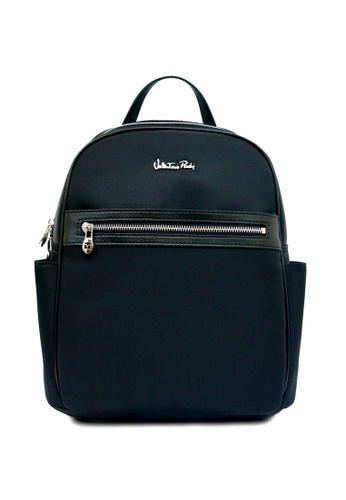 bc6d3460b9f Valentino Rudy black Valentino Rudy Nylon Leather trimmed Backpack  692F6AC40AC7D4GS_1