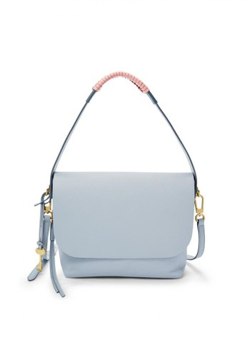 Fossil blue Fossil Maya - Leather - Crossbody - Horizon Blue - Tas Wanita -  ZB7620 bb230e7e1d
