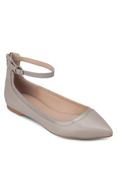 Pointed Ballerinas With Eyelet Details