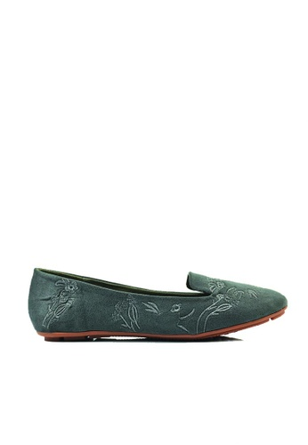 SHINE grey Embroidered  Loafers 52BC4SH6AAA6BDGS_1