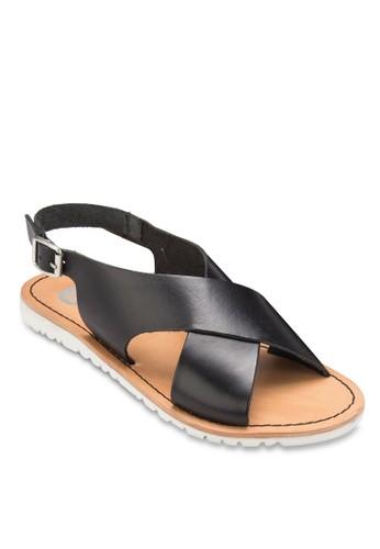 Sauveur 交叉寬帶涼鞋esprit 中文, 女鞋, 涼鞋