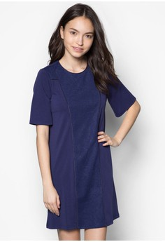 Pieced Shift Dress