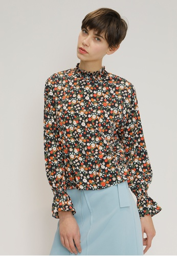 OUTSTANDING ORDINARY black Floral Shirt OU203AA56NXVSG_1