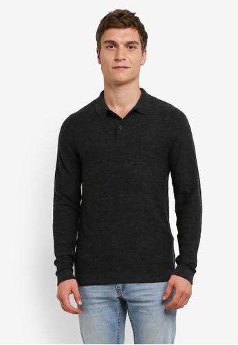 Selected Homme grey Mattis Polo Shirt SE364AA0S45BMY_1