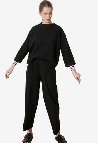 Trendyol black Boxy Top with Wide Leg Bottom BFFB1AAB991208GS_1