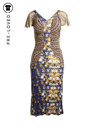 Just Cavalli blue Pre-Loved just cavalli Flowers Print Dress 95AF7AA28A6A45GS_1