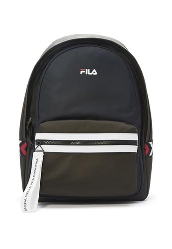 FILA green Color Block Backpacks 23635AC44A7009GS_1