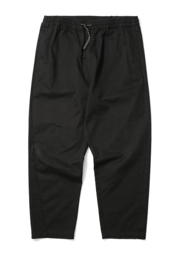 Fivecm black Drawstring chino pants 06130AA5834ECBGS_1