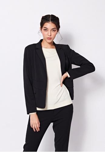 Sisley black Single-breasted Jacket 24A56AA81989D0GS_1